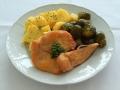 Kuřecí plátek, růžičková kapusta, brambory